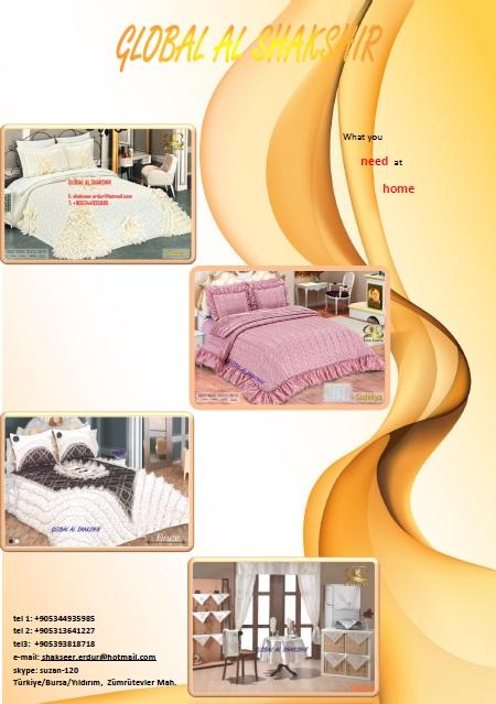 GLOBAL Al SHAKSHIR للمفارش السرير العرائيسيه