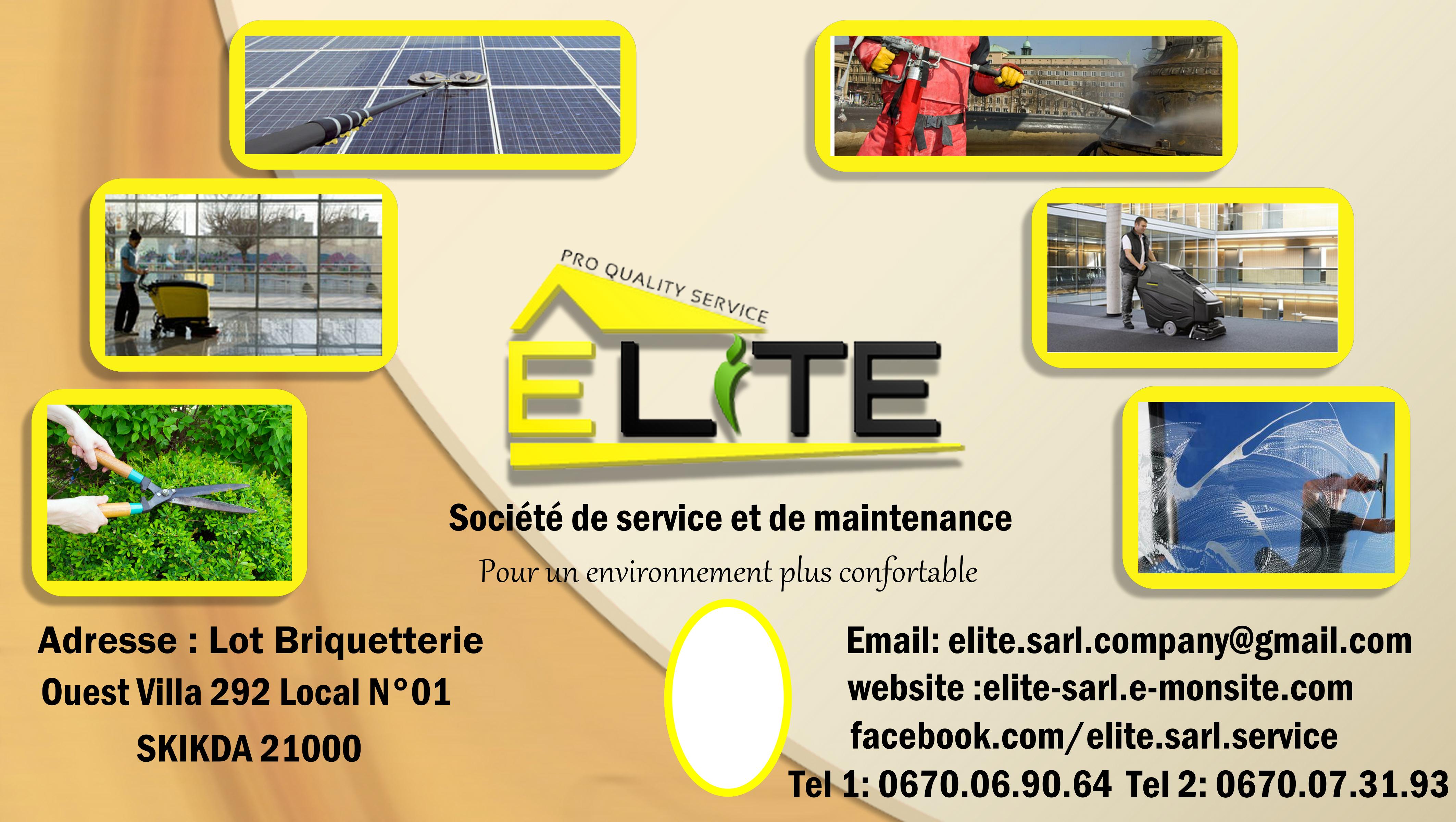 service de Nettoyage et d'entretien et de maintenance