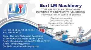 Machine de Fabrication sachet en plastique LM-Machinery