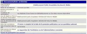 توظيف بالمؤسسة العمومية الاستشفائية عين بوسيف ولاية المدية - حفظ الوثائق و الارشيف -