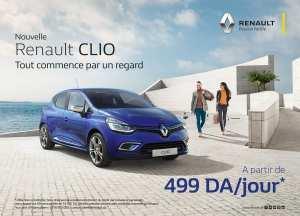Renault Clio à 499.00 da / jour
