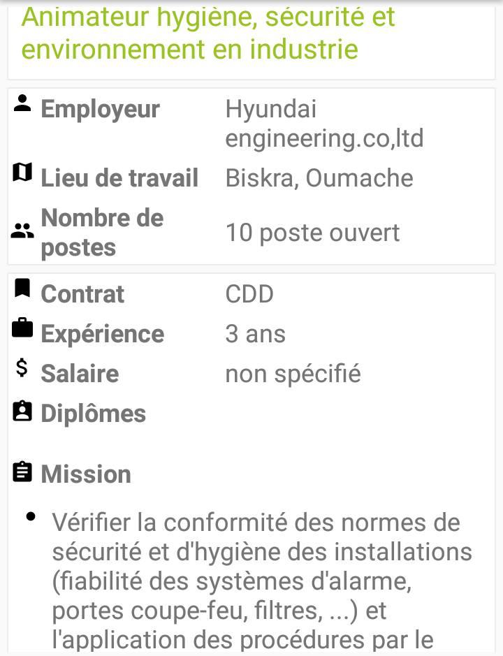 Offre emploi chez HYUNDAI 10 Postes