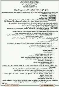Offre d'emploi au CHU Mustafa .Alger.