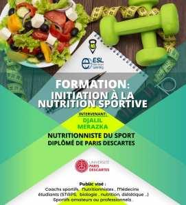 Formation Initiation à la nutrition sportive
