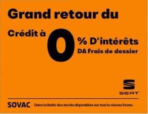 """SEAT ALGÉRIE RELANCE LE CRÉDIT """"0%"""""""