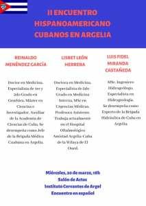 « Cubains en Algérie »