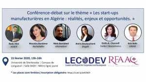 LES STARTUPS MANUFACTURIÈRES EN ALGÉRIE : RÉALITÉS, ENJEUX ET OPPORTUNITÉS