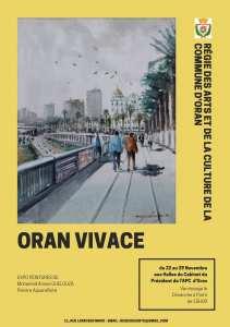 « ORAN VIVACE » : Expo de Peintures et d'Aquarelles Halles du Cabinet du Président de l'APC