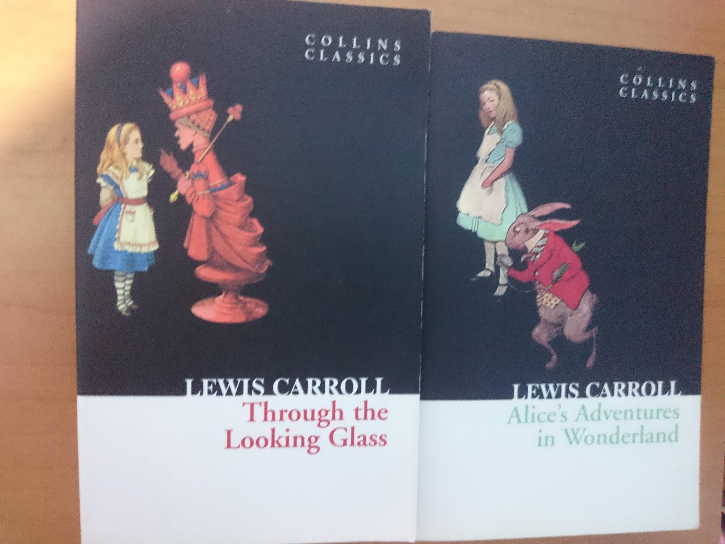 livres complets sans résumé (rares) en anglais : Alice's adventures in wonderland and through the looking glass