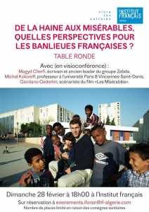 Conférence QUELLES PERSPECTIVES POUR LES BANLIEUES FRANCAISES ?