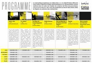 La Cinémathèque Algérienne en collaboration avec le collectif Cinéma Mémoire vous invite à (re) découvrir les films documentaires réalisés par des femmes dans le cadre de l'atelier de création de films documentaires (2017-2019 à Timimoun)