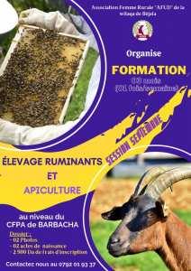 ormations en élevage des ruminants et l'apiculture pour la session de Septembre.