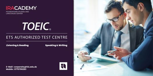 TOEIC Listening & Reading Exam at IRACADEMY