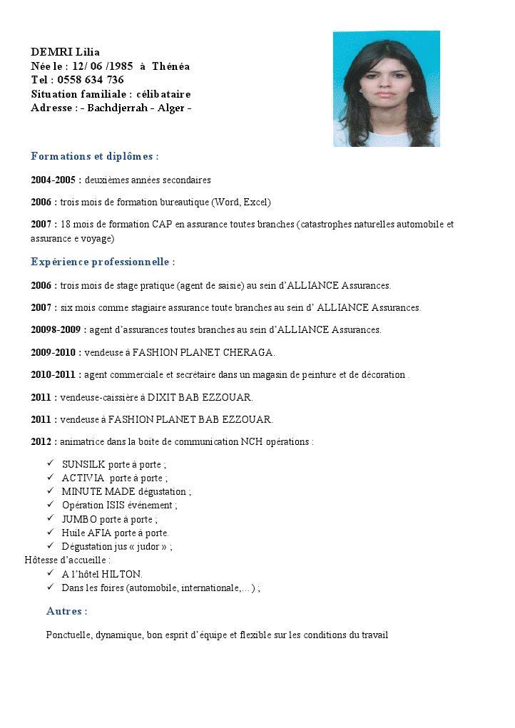 Femme cherche emploi algerie