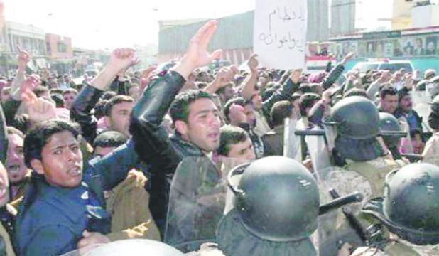 البرزاني يزور بغداد للتخفيف من الفتنة الطائفية العراق يغلق حدوده مع الأردن