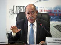 Le ministre de a Formation et de l'enseignement professionnels, Mohamed Mebarki, hier au forum de