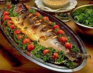 السمك المشوي في الفرن