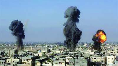 Plus de 400 tonnes d'explosifs sur Ghaza, Dimona visé pour la 1re fois