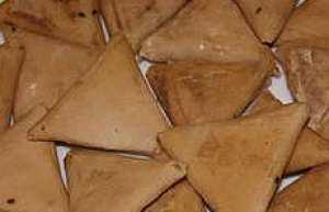 Samsa - Feuilles aux amendes en triangles