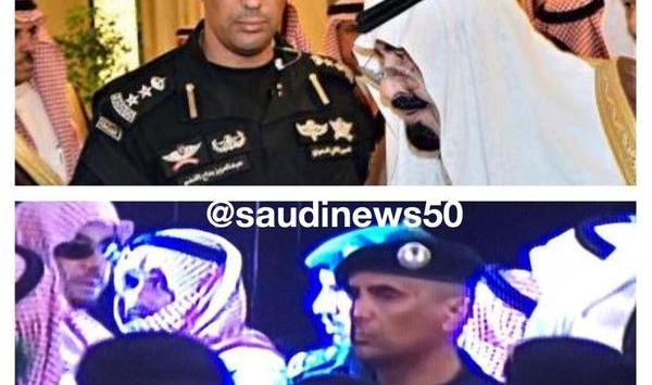 أول صورة يظهر فيها حارس ملك السعودية .. وحيداً
