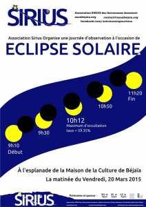 Eclipse et soirée d'observation à Béjaia