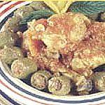 Poulet aux olives farcis