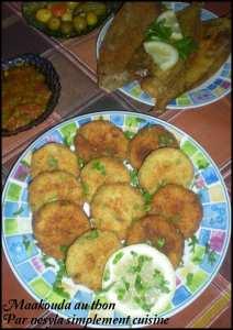 Maakouda au thon -Galettes de pommes de terre-