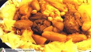 Crêpes sauce rouge de Biskra