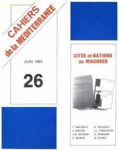 Deux circuits de l'économie urbaine : Tlemcen, Saïda (Algérie)