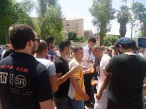 Sit in des b�n�ficiaires de logements LPA d'El Hidhab