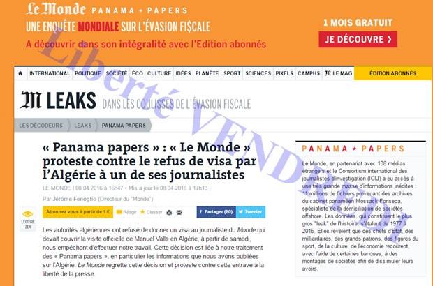 « Le Monde » proteste contre