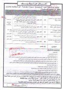 مناصب عمل مختلفة بجامعة عبد الرحمن ميرة ولاية بجاية