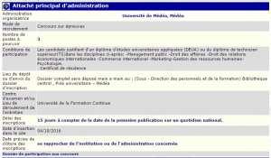 Université de Médéa recrute - attaché principal d'administration -
