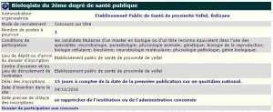 Etablissement public de santé de proximité de Yellel wilaya de Relizane recrute - Biologiste 2eme degré de santé public -