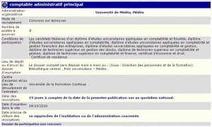 Université de Médéa recrute - Comptable administratif principal -