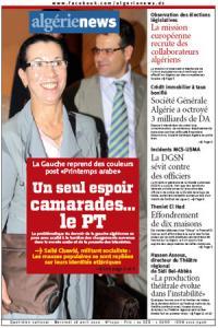 AlgerieNews 18 - 04 - 2012