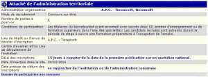 recrutement - attaché d'administration territorial APC de Tissemsilt wilaya de Tissemsilt
