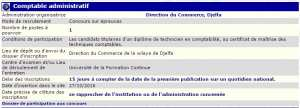 recrutement - comptable administratif à la direction du commerce Djelfa