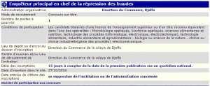 recrutement - enqueteur principal en chef de la repression des fraudes à la direction du commerce Djelfa