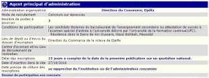 recrutement - agent principal d'administration à la direction du commerce Djelfa