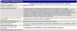 recrutement 05/11/2016 - Attaché d'administration à l'epsp Laghouat