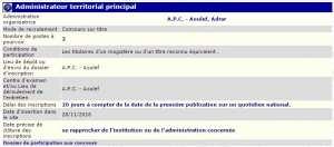 recrutement 28/11/2016 - Administrateur à l'APC de Aoulef - Adrar
