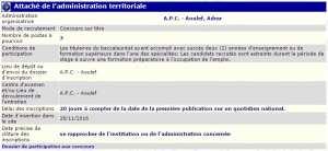 recrutement 28/11/2016 - Attaché de l'administration territoriale à l'APC de Aoulef - Adrar