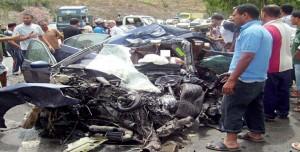 حوادث المرور: 106 قتلى و1450 جريحا خلال أسبوع