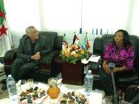 La question sahraouie et son soutien au centre d'entretiens avec une délégation sud-africaine