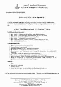 avis de recrutement national - officier pont chargé de quart à la passerelle - sonatrach