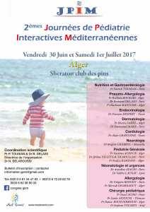 Bientôt la 2ème édition des Journées de Pédiatrie Interactives Mediterranéennes - JPIM....