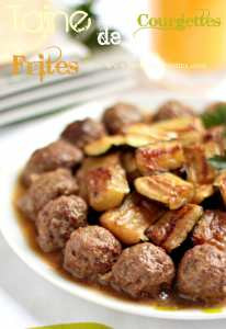 tajine de courgettes aux boulettes de viande hachée