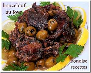 bouzelouf aux olives au four