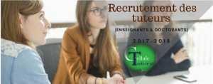 Recrutement des tuteurs (Enseignants & Doctorants) 2017-2018
